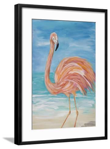 Flamingo II-Julie DeRice-Framed Art Print