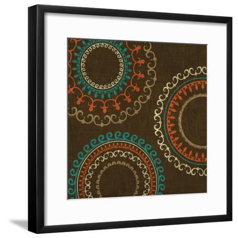 Chocolate Suzani I--Framed Art Print