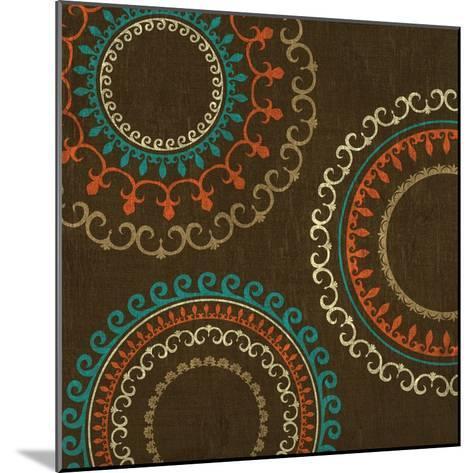 Chocolate Suzani I--Mounted Art Print