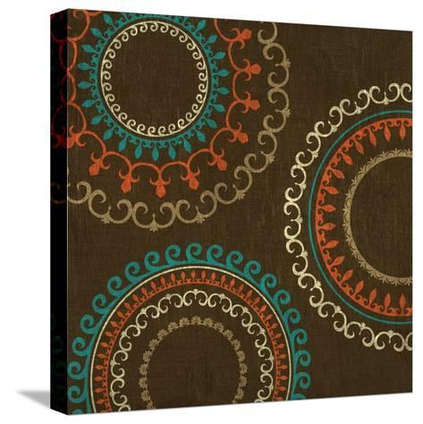 Chocolate Suzani I--Stretched Canvas Print