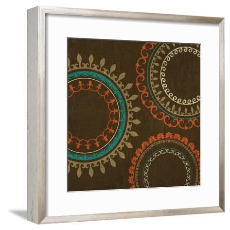 Chocolate Suzani II--Framed Art Print