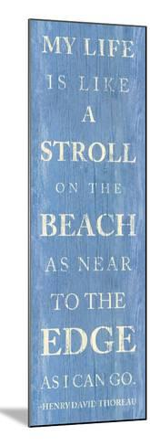 Stroll on the Beach--Mounted Premium Giclee Print