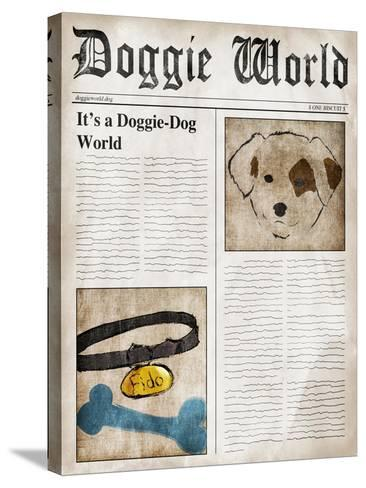 Doggie World--Stretched Canvas Print