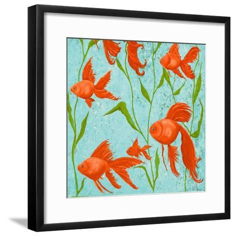 School of Fish II-Gina Ritter-Framed Art Print
