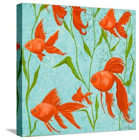 School of Fish II-Gina Ritter-Stretched Canvas Print