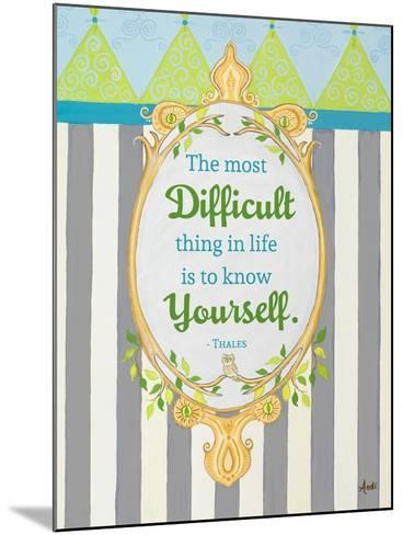 Know Yourself-Andi Metz-Mounted Premium Giclee Print