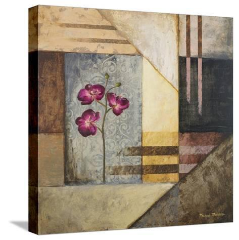 Orchids and Shapes II-Michael Marcon-Stretched Canvas Print
