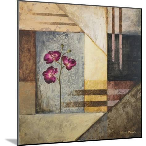Orchids and Shapes II-Michael Marcon-Mounted Premium Giclee Print
