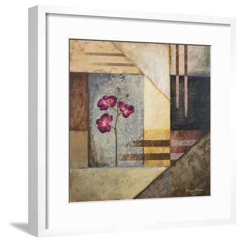 Orchids and Shapes II-Michael Marcon-Framed Art Print
