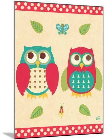 Wise Owls II-Andi Metz-Mounted Premium Giclee Print