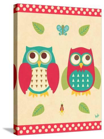 Wise Owls II-Andi Metz-Stretched Canvas Print