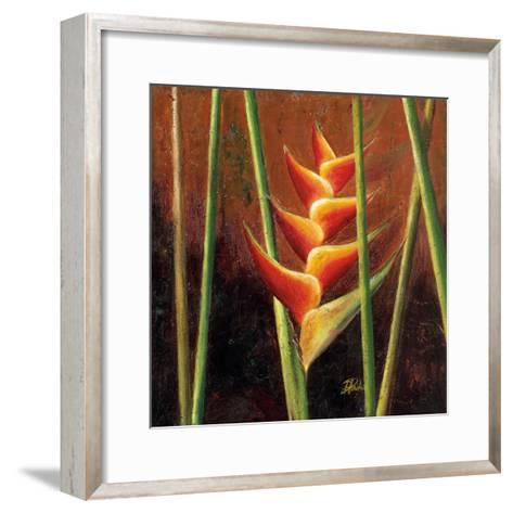 Heliconias En Naranja II-Patricia Pinto-Framed Art Print