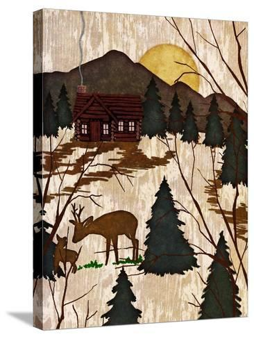 Cabin in the Woods II-Nicholas Biscardi-Stretched Canvas Print