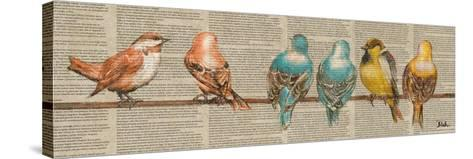Gleeful Newsprint I-Patricia Pinto-Stretched Canvas Print