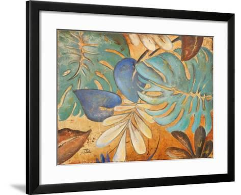 Gold and Aqua Leaves I-Patricia Pinto-Framed Art Print