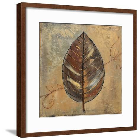 New Leaf II (mustard)-Patricia Pinto-Framed Art Print