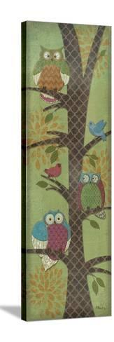 Fantasy Owls Panel I-Paul Brent-Stretched Canvas Print