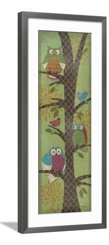 Fantasy Owls Panel I-Paul Brent-Framed Art Print