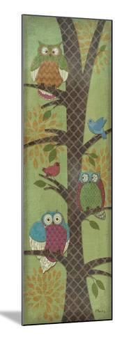 Fantasy Owls Panel I-Paul Brent-Mounted Premium Giclee Print