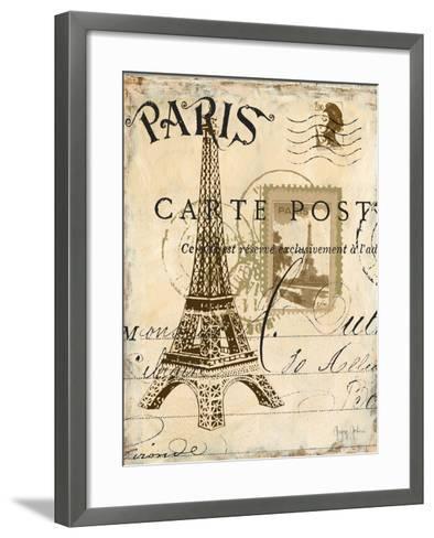 Paris Collage I - Eiffel Tower-Gregory Gorham-Framed Art Print