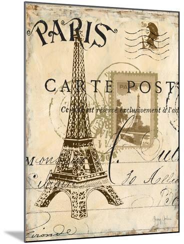 Paris Collage I - Eiffel Tower-Gregory Gorham-Mounted Premium Giclee Print
