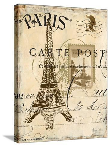 Paris Collage I - Eiffel Tower-Gregory Gorham-Stretched Canvas Print