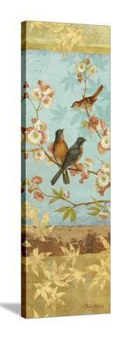 Robins and Blooms Panel-Pamela Gladding-Stretched Canvas Print