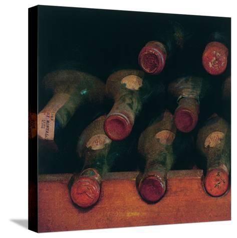Vintage Wine Cellar I-Amy Melious-Stretched Canvas Print