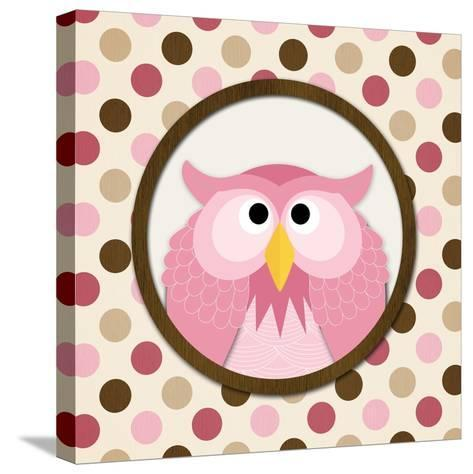 O Is for Owl II-N^ Harbick-Stretched Canvas Print
