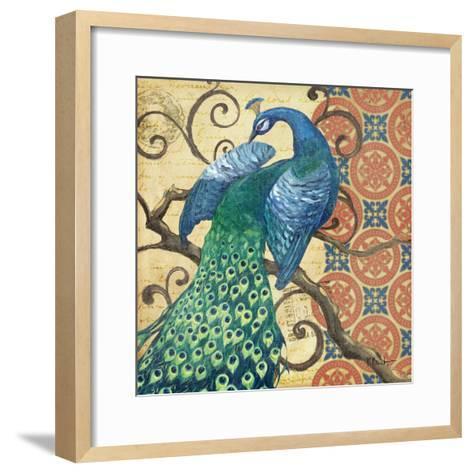 Peacock's Splendor II-Paul Brent-Framed Art Print