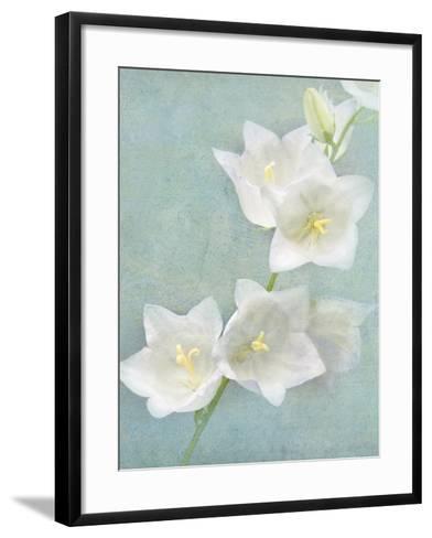 Aqua Floral IV-Amy Melious-Framed Art Print