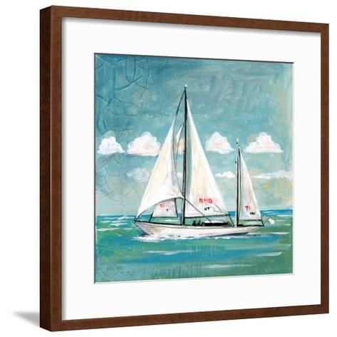 Sailboats II-Gregory Gorham-Framed Art Print
