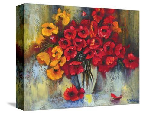 Poppy Fascination-Stanislav Sidorov-Stretched Canvas Print