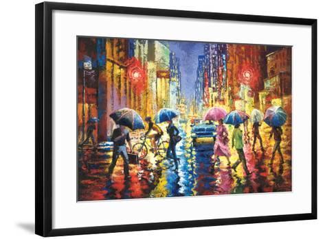 Lights in the Rain-Stanislav Sidorov-Framed Art Print