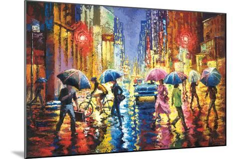 Lights in the Rain-Stanislav Sidorov-Mounted Art Print