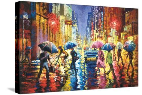 Lights in the Rain-Stanislav Sidorov-Stretched Canvas Print