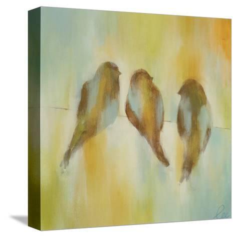 Bird Trio I-Jeni Lee-Stretched Canvas Print