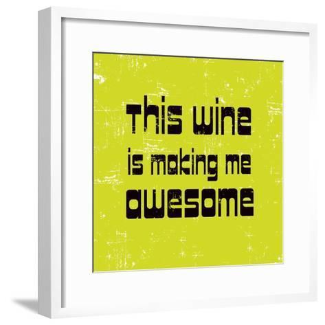 Words of Wine 5-Lola Bryant-Framed Art Print