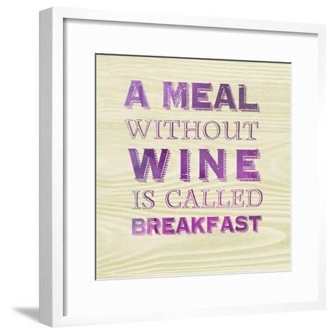 Words of Wine 10-Lola Bryant-Framed Art Print