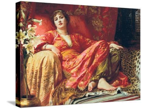 Leila, 1892-Frank Bernard Dicksee-Stretched Canvas Print