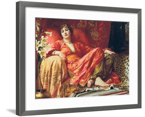 Leila, 1892-Frank Bernard Dicksee-Framed Art Print