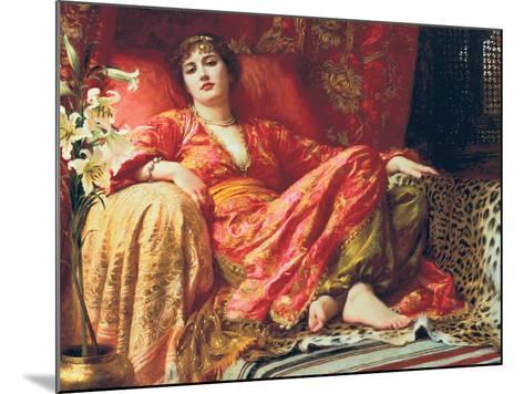 Leila, 1892-Frank Bernard Dicksee-Mounted Premium Giclee Print