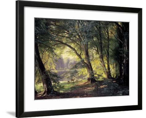 The Deer Park-Carl Frederic Aagaard-Framed Art Print