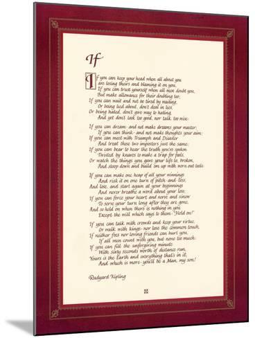 If-Rudyard Kipling-Mounted Premium Giclee Print