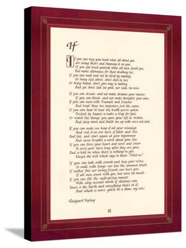 If-Rudyard Kipling-Stretched Canvas Print