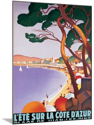 L'Ete sur la Cote d'azur-Roger Broders-Mounted Premium Giclee Print
