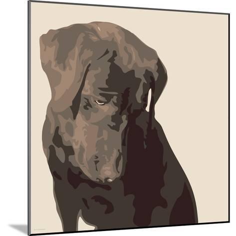 Chocolate Labrador-Emily Burrowes-Mounted Premium Giclee Print
