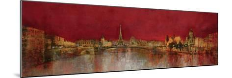 Paris at Night-Kemp-Mounted Premium Giclee Print