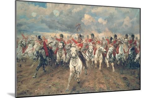 Scotland for Ever!-Lady Butler-Mounted Premium Giclee Print