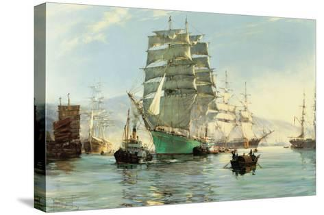 The Thermopylae Leaving Foochow-Montague Dawson-Stretched Canvas Print
